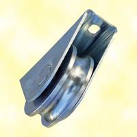 Roulette acier à visser à gorge en U Ø80mm