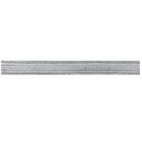 Profil mouluré 45x10mm en aluminium pour habillage des soubassements de portails