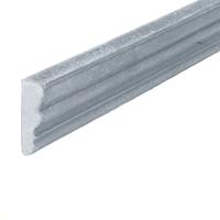 Profil mouluré 35x12mm en aluminium pour habillage des soubassements de portails