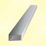 Barre profilée tube 40x20mm longueur 2m rectangulaire lisse acier brut