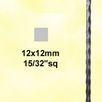 Profilé carré martelé 12x12