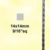 Profilé carré martelé 14x14 2m