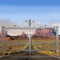 Portail ARTEMIDE 3,5m 14X14mm structure  manuelle