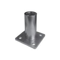 Pivot inférieur à bille à sceller pour tube de 40x40mm