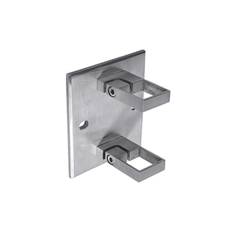 Platine support et anneau de serrage large INOX316