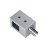 Connecteur en applique pour carré de 12x12mm et tube 40x40mm