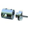 Connecteur en applique pour rond Ø12mm et tube Ø42,4mm