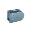 Pince à verre ronde 64mm en zamac brut pour tube Ø48,3mm
