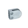 Pince à verre ronde 41mm en inox 316 brossé pour plat