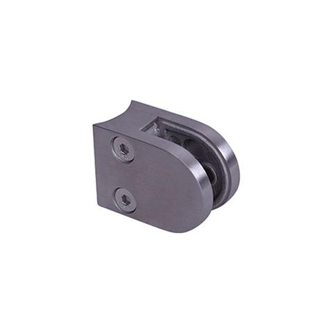 Pince à verre ronde 40x55mm en zamac brossé pour tube Ø42,4mm