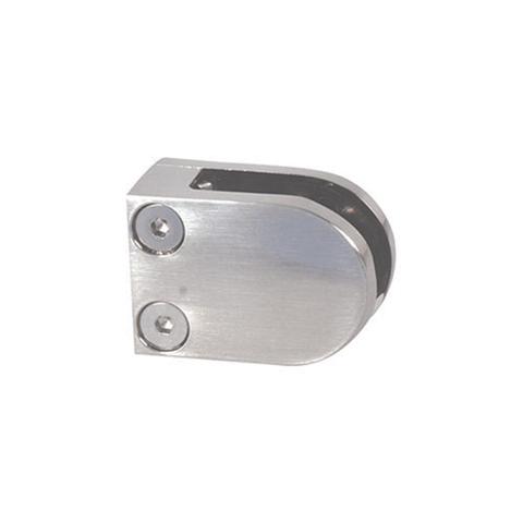 Pince à verre ronde 40x50mm en inox 316 pour plat