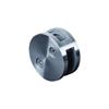 Pince à verre ronde Ø60mm en inox 316 pour plat ou poteau carré