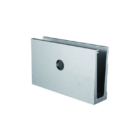 Profil aluminium pour garde corps fixation l 39 anglaise in26 for Plaque inox mur