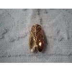 Broche Cigale lisse dorée 2,5x1 cm