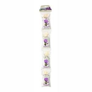 Chapelet de 4 sachets de fleurs lavande , blanc