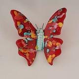 Papillon multicolore rouge