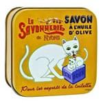 Savon boite métal ''Chat''