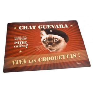 Tapis gamelle Chat guevara