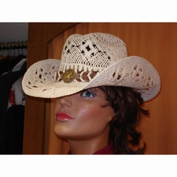 Chapeau paille Bullhide Naughty Girl blanc