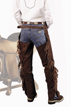 Chaps western Classic daim Homme