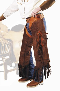 Chaps western Rodeo Short daim Homme